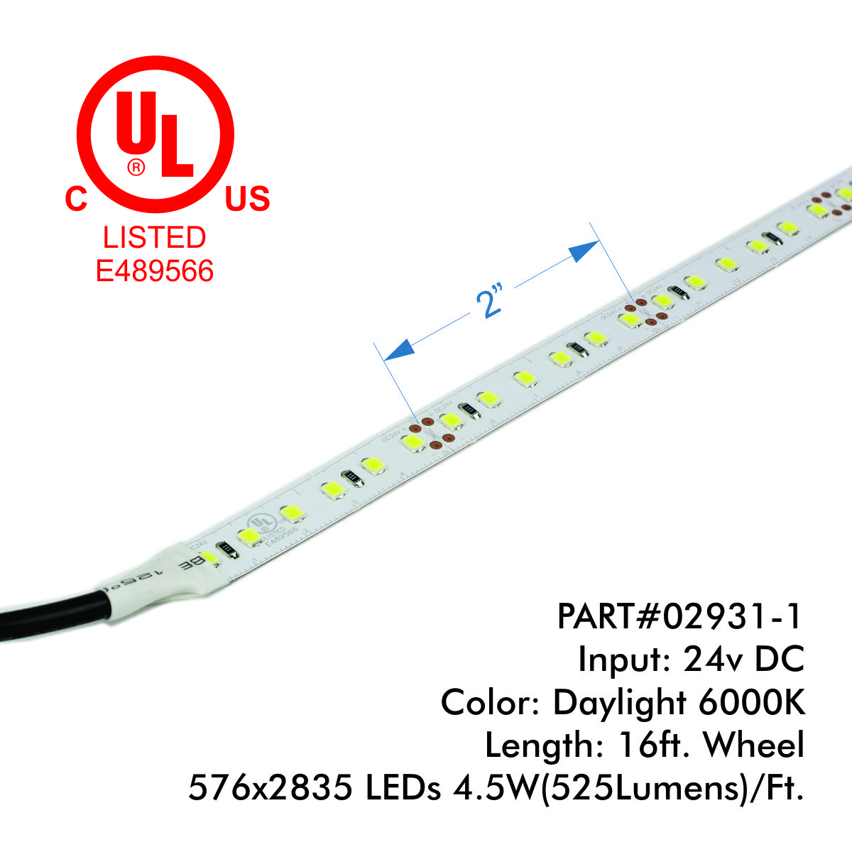 Eco+ Series - 2835 36LEDs/Ft.